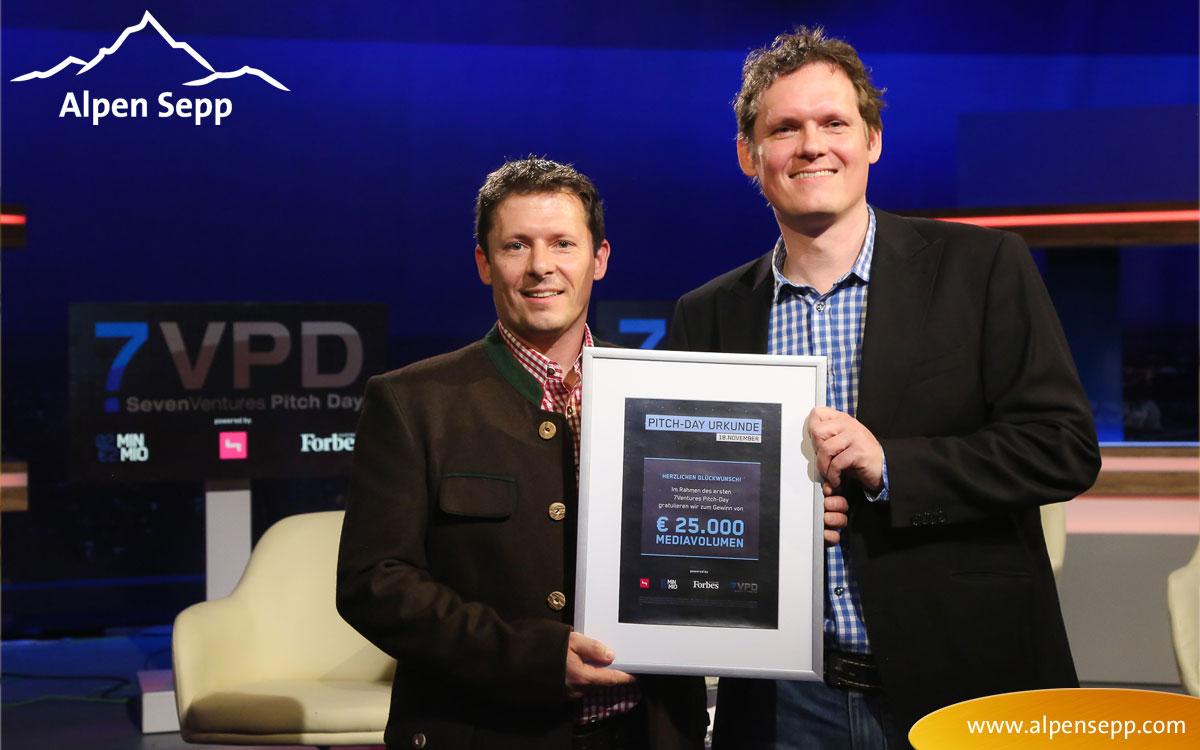 Alpen Sepp Sieger vom 7 Ventures Pitch Day