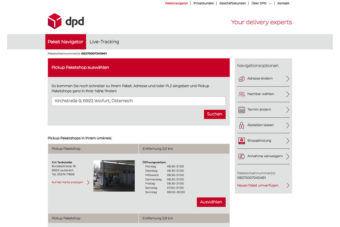DPD Predict Abholung beim Paketshop fixieren
