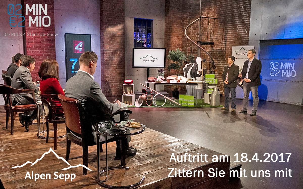Alpen Sepp in der 2 Minuten 2 Millionen Show