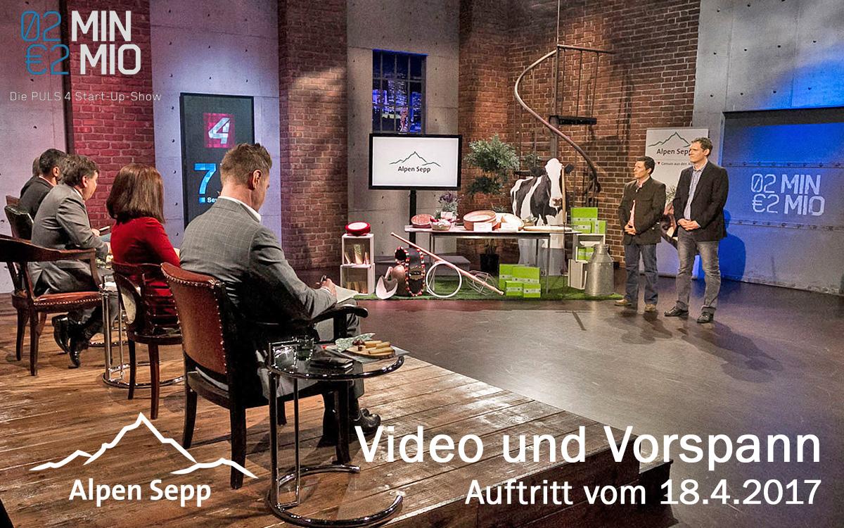 Alpen Sepp Video zum 2 Minuten 2 Millionen Auftritt