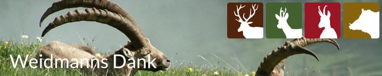 Weidmanns Dank in der Jägersprache