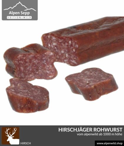 Hirschjäger Rohwurst vom Alpenwild im Shop