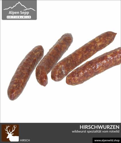 Hirschwurzen - Wildwurst Spezialität vom Rotwild
