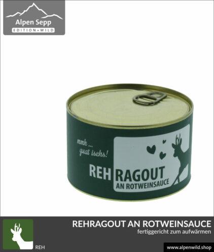 Rehragout Rehgulasch an Rotweinsauce