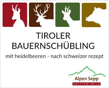 Tiroler Bauernschübling mit Heidelbeeren