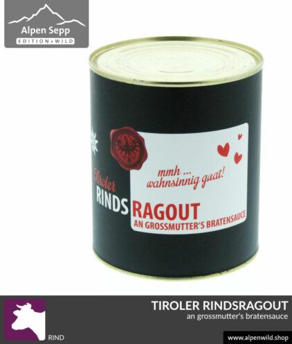 Tiroler Rindsragout Konserve Fertiggericht, 680 Gramm