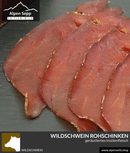Wildschwein Rohschinken - Schwarzwild Trockenfleisch im Shop kaufen