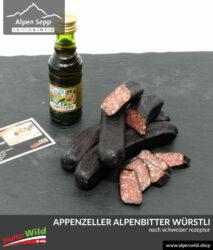 Appenzeller Alpenbitter Wurst nach schweizer Rezeptur