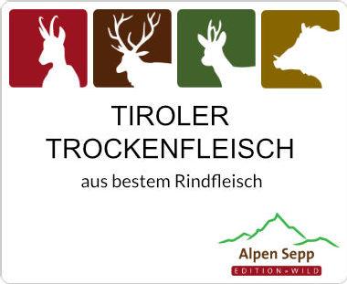 Tiroler Trockenfleisch vom Rind ähnlich Bündnerfleisch
