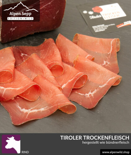Rinder Trockenfleisch ähnlich Bündnerfleisch