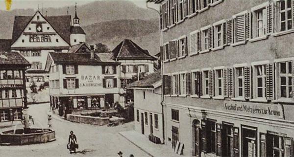 Metzgerei Wetter im Appenzell in früheren Zeiten