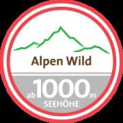 Siegel für Alpenwild über 1000 Meter Seehöhe