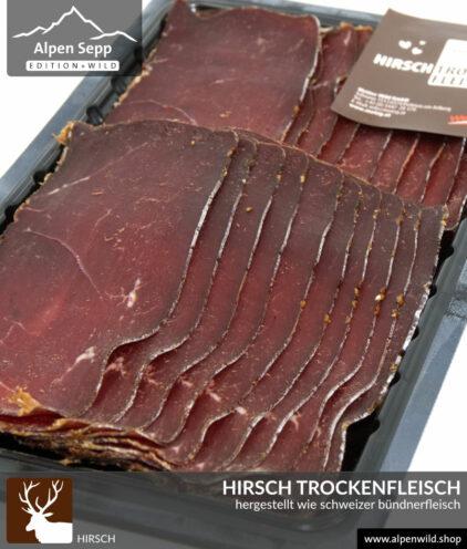 Hirsch Trockenfleisch, geschnitten