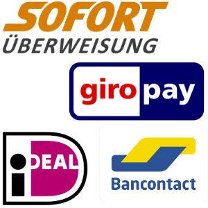 Sofortüberweisung, giropay, iDeal, Bancontact