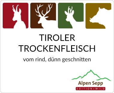 Tiroler Trockenfleisch vom Rind, dünn geschnitten