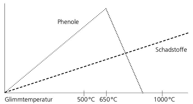 Temperaturen Räucherrauch