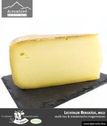 Lechtaler Bergkäse mild   100% Heu und kräuterreiche Magerwiese   Lechtaler Naturkäserei in Tirol   100% Heumilch   45% F.i.T.