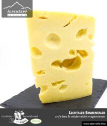 Lechtaler Emmentaler | 100% Heu und kräuterreiche Magerwiese | Lechtaler Naturkäserei in Tirol | 100% Heumilch | 45% F.i.T.