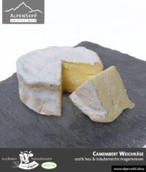 Camembert Weichkäse | 100% Heu und kräuterreiche Magerwiese | Lechtaler Naturkäserei in Tirol | 100% Heumilch | 55% F.i.T. - 140 g